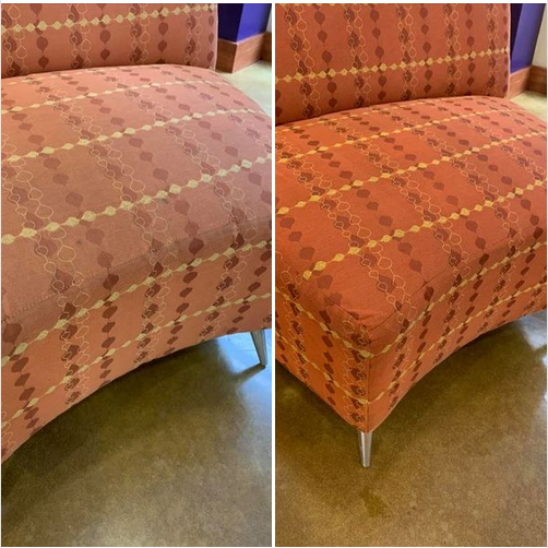 Professional Upholstery Cleaning Before After Central Arkansas